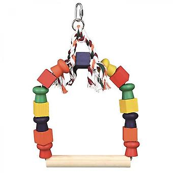 Trixie Arched Swing In Wood Blocks - For Bird