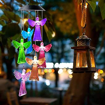 Solar Powered Wind Chimes With Led Light Home Decoration