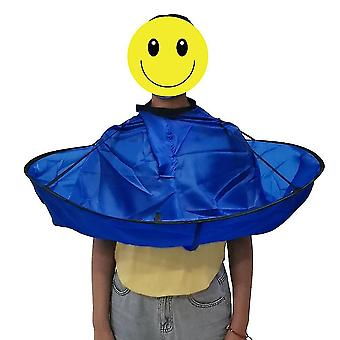 Round 3d Haircut Barber Apron Breathable Hair Cloak Cape Waterproof Salon Hairdressing Cap For Adult