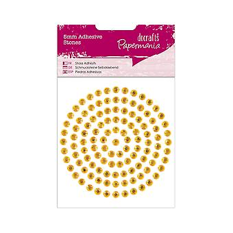 117 Gold Self Adhesive 5mm Jewel Gem Stones | Diamante Gemstones Embellishments