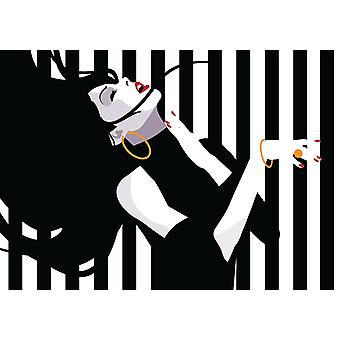 Mural de papel de parede Mulher da Moda em Estilo pop art