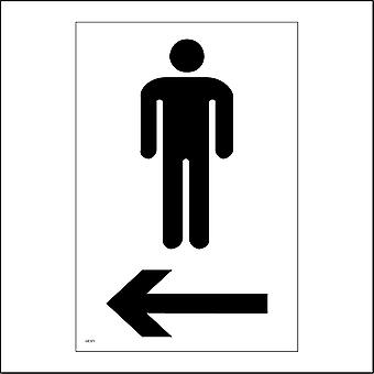 GE371 Male Toilet Left Arrow Sign