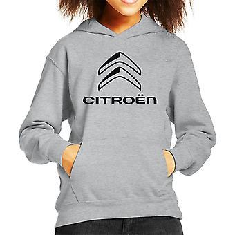 Citroen 2016 Svart logotyp Kid's Hooded Sweatshirt