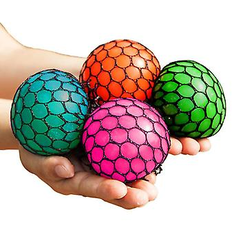 4パックストレスボールスクイーズ脳ボールストレスリラクリングクランプボール7.5cm