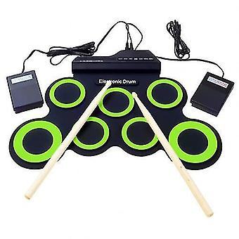 Hot sale folding hand roll up thicken silicone kids electronic drum percussion instrument music