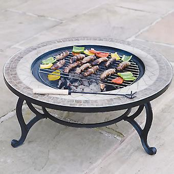 """Trueshopping """"Beacon Star"""" combined Coffee Table, Fire Pit & BBQ"""
