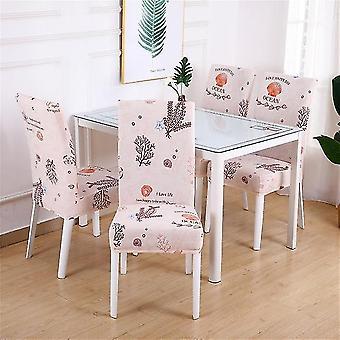 1/2/4/6pc ruokapöydän tuoli kansi - spandex elastinen pastoraalinen tulosta moderni slipcovers