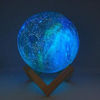 Färg changing & fjärrkontroll - 3d utskrift Moon Lampa