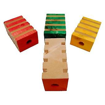 """Zoo-Max 4 Groovy Blocks Bird Toy - 3""""L x 2""""W"""