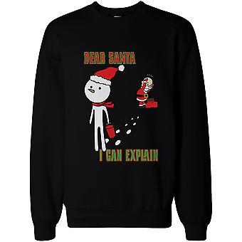 Schneemann Stola Santa Hut lustige Sweatshirt Cute Weihnachten Pullover Fleece