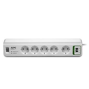 APC PM5T-GR, 918 J, 5 AC-Ausgänge, Typ F, 230 V, 50 hz, 2300 W
