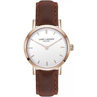 LLarsen (Lars Larsen Brown Genuine Leather) WH127RB-BR18 Women's Watch