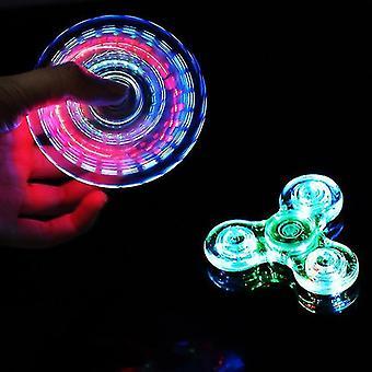 Spinning tops luminous led light fidget spinner hand top spinners glow in dark light edc figet spiner finger