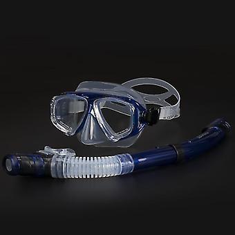 Einstellbare Schnorchel-Tauchmaske Set mit Anti-Beschlag-Brille (Blau)