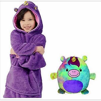 Huggler Pets Plüss Soft Kids kapucnis pulóver takaró pulóver