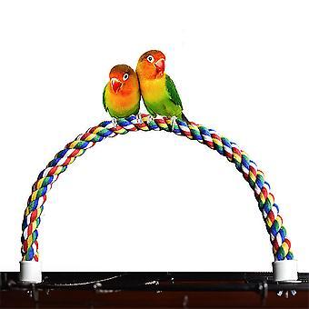 Haustier Papagei Klettern Baumwolle Seil Drehleiter Stehende Stange (60cm)