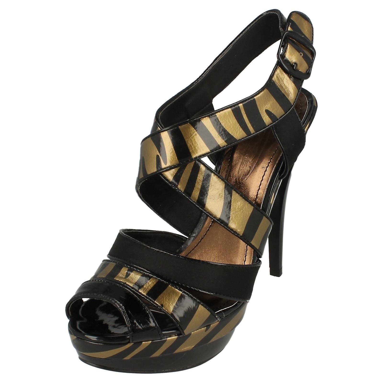 Panie miejscu na wydruku paski sandały obcasie Zebra KaUiL