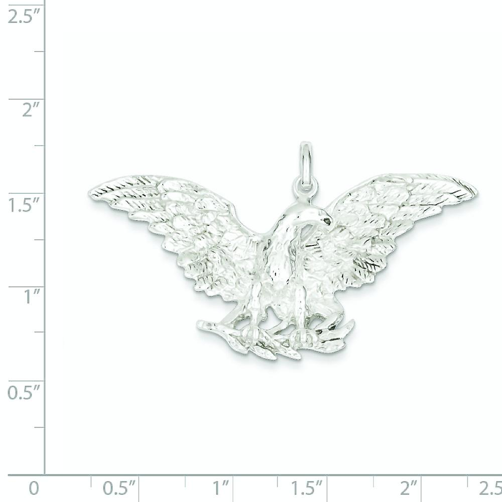 925 Sterling Silver Solid Polished Sparkle Cut Eagle Pendant Necklace Jewelry Gifts for Women