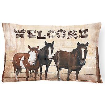 نرحب حصيرة مع الخيول قماش نسيج ديكور وسادة