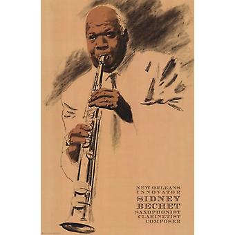 Sidney Bechet Poster Print por Clifford Fausto (12 x 18)
