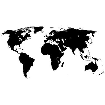GNG World Map Childrens Wall Art Decal Vinyl Stickers Picture for Boys/Girls Bedroom