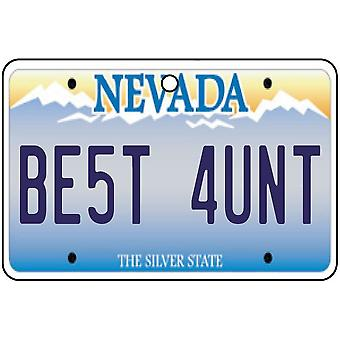Nevada - Best Aunt License Plate Car Air Freshener