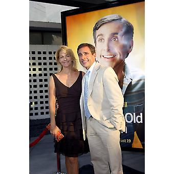 Nancy Walls Steve Carell At Arrivals For The 40 Year-Old Virgin Premiere The Arclight Cinema Los Angeles Ca August 11 2005 Photo By Michael GermanaEverett Collection Celebrity