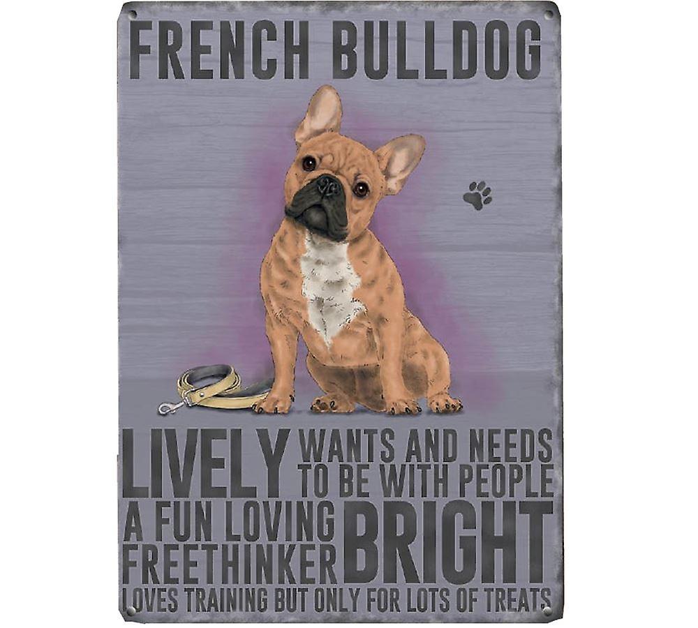 Medium Wall Plaque 200mm x 150mm - French Bulldog