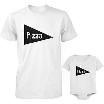 Pizza Dad and Baby Matching Shirt and Bodysuit