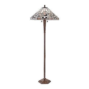 Lampe sol intérieurs 1900 3 métropolitaine avec Monochrome A