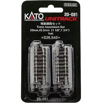 7078015 N Kato Unitrack Filler track 29 mm, 45 mm