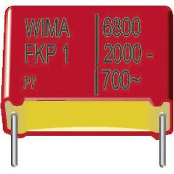 WIMA FKP1R031007D00KSSD 1 st (s) FKP tunnfilms kondeneller Radial bly 0,1 μF 1250 V DC 10% 37,5 mm (L x b x H) 41,5 x 15 x 26 mm