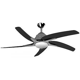 Ventilateur de plafond LED Viper Plus étain avec 112 cm/44