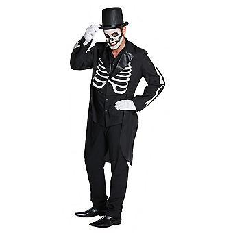 Frack skelet skelet jasje rippen Tuxedo Halloween kostuum voor mannen