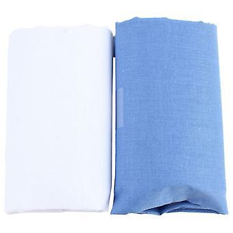 Дэвид ван Хаген классический простой платок Set - белый/синий