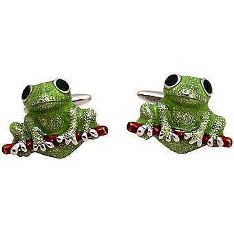 Zennor Frog kalvosinnapit - vihreä/punainen