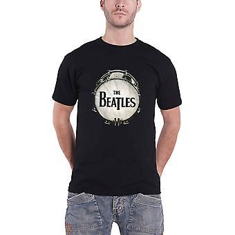 Beatles T skjorte Drop T Drum Logo kaviar perle Design offisielle Mens nye svart