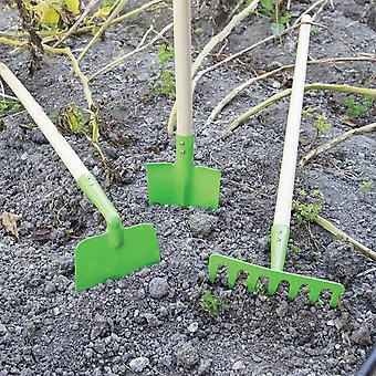 Bigjigs Giocattoli Bambini's Gardening Tool Play Set con Guanti, Rastrella, Pala, Pennello