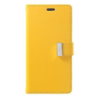 Mercury GOOSPERY Rich Diary for iPhone XS Max-Yellow