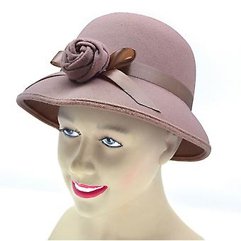 Lady's Hat 1920's stil. Plys Beige