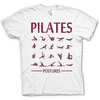 Мужская футболка - пилатес позы - Core Фитнес