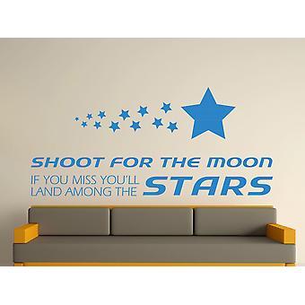 Viser la lune Wall Art autocollants - bleu olympique