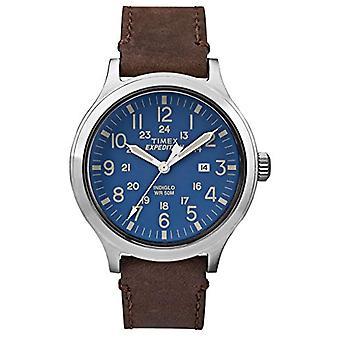 Timex Analog quartz men's watch with leather TW4B06400