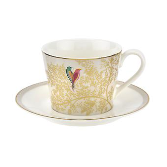 Sara Miller Chelsea Cup and Saucer, Light Grey