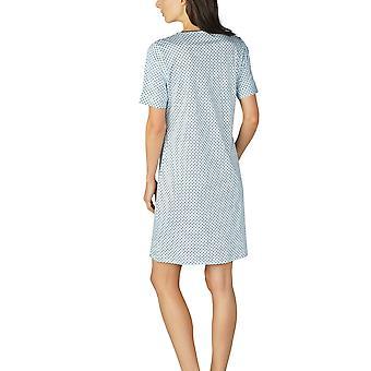 Mey Women 11953-408 Women's Sonja Night Blue Spotted Cotton Nightdress