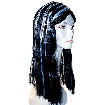 Parrucca vampiro nero/bianco