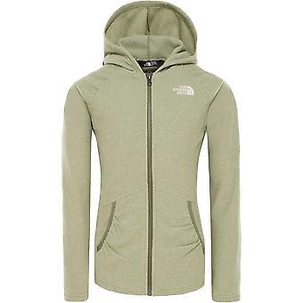 North Face Girl's Mezzaluna Full Zip Hoodie XL+ - Clover