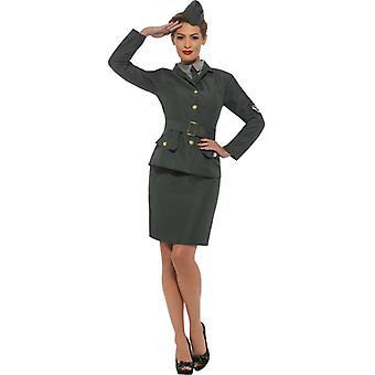 WW2 army girl ladies costume dress war uniform Carnival