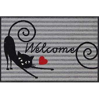 Salon lion doormat curl cat 50 x 75 cm. washable dirt mat