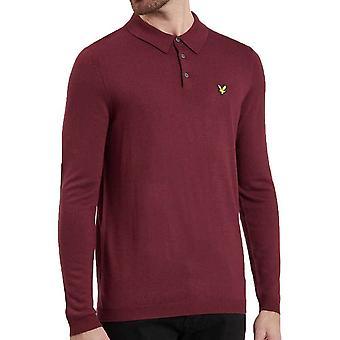 Lyle og Scott strikkede Polo Shirt Claret Jug